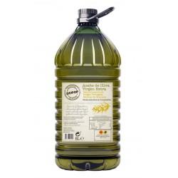 Garrafa de 5 litros de aceite de oliva de Granada DCOOP.