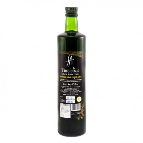 Tuccioliva botella Dorica 750 ml. Caja 12 unidades.