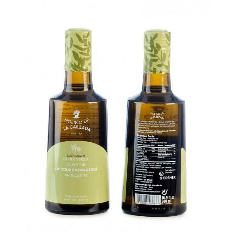 Molino de la Calzada arbequina, bell 500 ml. Box 6 units