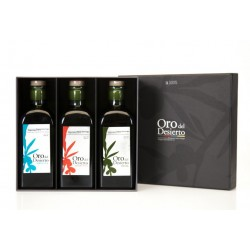 Oro del Desierto monovarietals, case 3 X 500 ml. Box 5 units