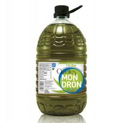 Aceites Mondrón verdial, pet 5 l. Caja 3 unidades