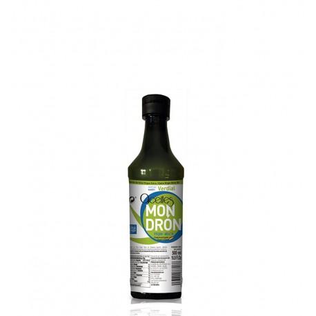 Aceites Mondrón verdial, pet 500 ml. Caja 15 unidades