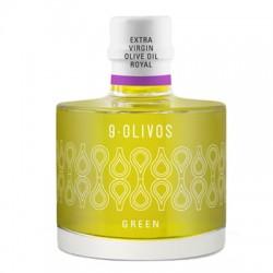9 Olivos Green Royal, 200 ml. Caja 12 unidades
