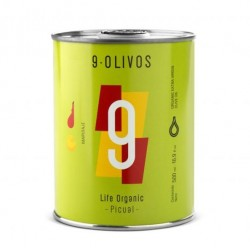 9 Olivos Life Organic Picual, 500 ml. Caja 12 unidades