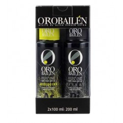 Oro Bailen Family Reserve. picual + arbequina, 2 x 100 ml. Box 12 units.
