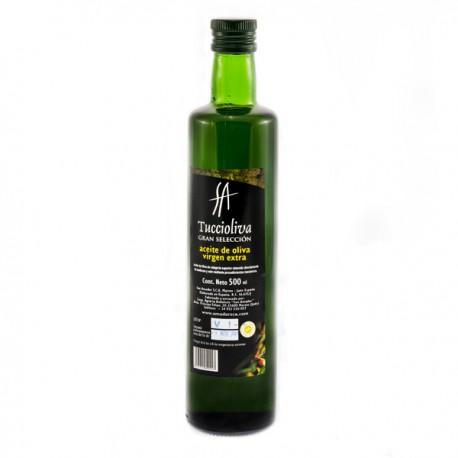 Tuccioliva glass bottle Dorica 500 ml. Box 12 units.