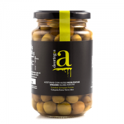 Deortegas organic green olives, 250 gr.