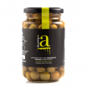Deortegas organic green olives, 370 gr.