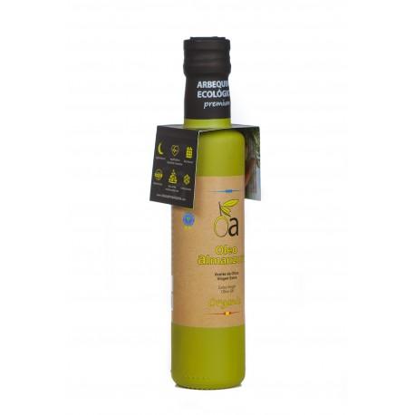 Oleoalmanzora arbequina ecológico, 250 ml. Caja 3 unidades.