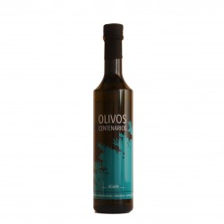 Aove Águra Centenary olive tree glass bottle 500 ml. Box 12 units.