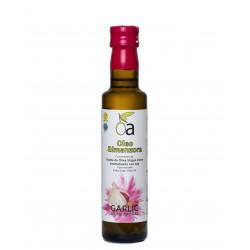 Oleoalmanzora arbequina aromatizado con Ajo, 250 ml. Caja 12 unidades.