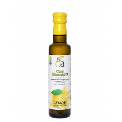 Oleoalmanzora arbequina aromatizado con Limón, 250 ml. Caja 12 unidades.