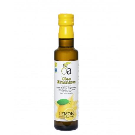 Oleoalmanzora Lemon flavoured olive oil, 250 ml. Box 12 units.