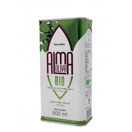 Almaoliva BIO, lata 500 ml. Caja 15 unidades