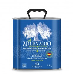 Periana Olive Oil El Milenario, 2,5 l. Box 5 units.