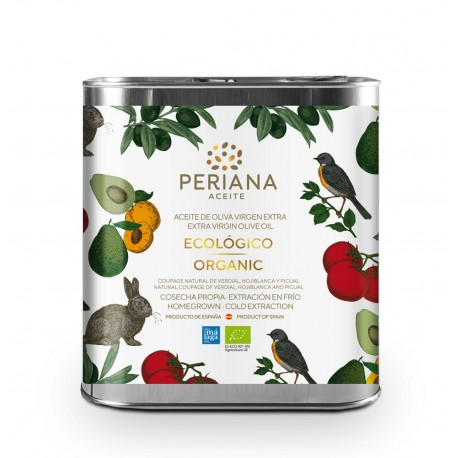 Periana organic olive oil, 2 l. Box 8 units.