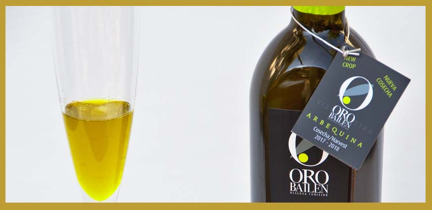 Our arbequina olive oil for your recipes